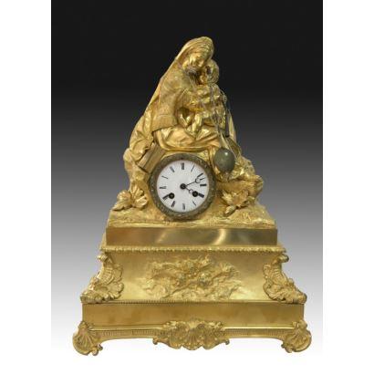 Reloj de sobremesa francés, S. XIX.