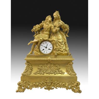 Reloj de sobremesa estilo Luis Felipe, S. XIX.