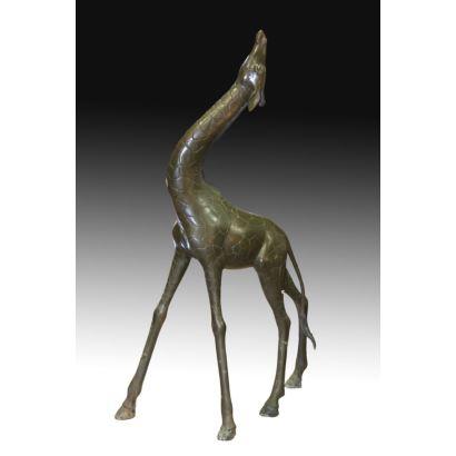 Jirafa en bronce, S. XX.