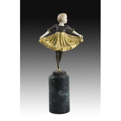 Esculturas. Figura criselefantina, S. XX.