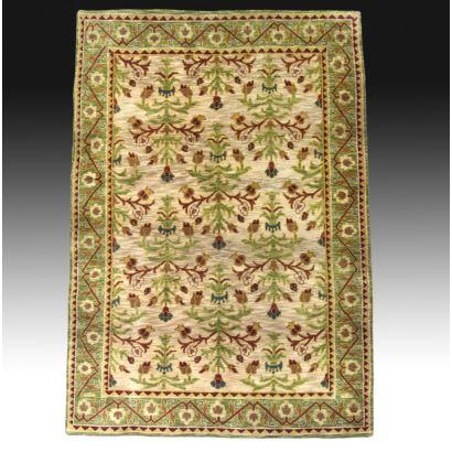 Alfombra en lana estilo indio.