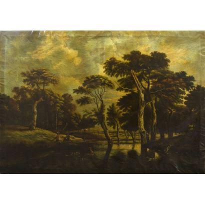 Pintura de Alta Época. Escuela Holandesa, circa 1800.
