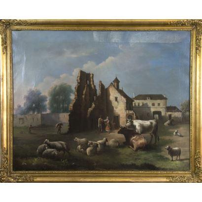 Pintura del siglo XIX. RAMÓN OLAVIDE (Esc. Esp., ¿-1877)