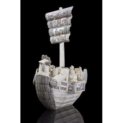 Hueso. Barco de hueso, China, pps. XX.