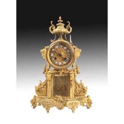 Reloj de sobremesa estilo Luis XVI, S. XIX.