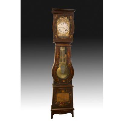Reloj Morez de caja alta, siglo XIX.