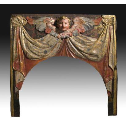 Fragmento de retablo, S. XVII.