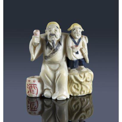 Netsukes. Netsuke oriental, ppios. S. XX.