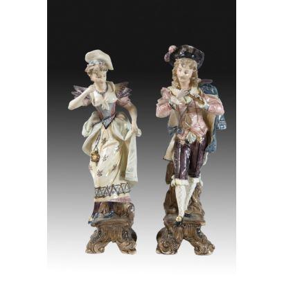 Pareja de esculturas francesas, pps. XX.