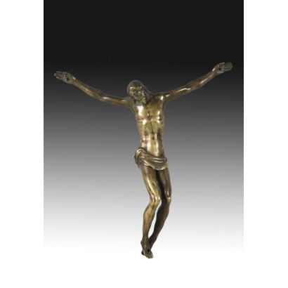 Cristo en bronce siguiendo modelos de Guglielmo della Porta, S. XVII.