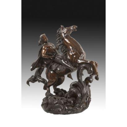 Conjunto en bronce, S. XX.