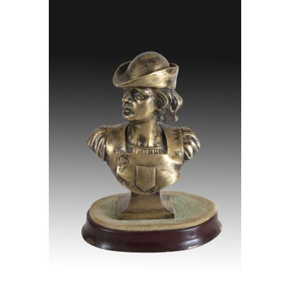 Busto en bronce, ffs. XIX.