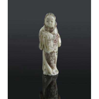 Netsukes. Netsuke japonés, ppios. S. XX.