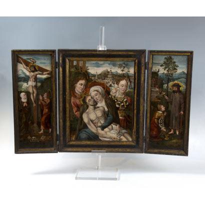 Pintura de Alta Época. Escuela hispano flamenca, siglo XVI.