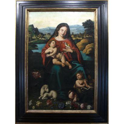 Pintura de Alta Época. Siguiendo modelos de Juan de Juanes (Valencia, c. 1507-Bocairente, 1579)