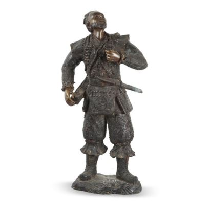 Figura de bronce, hacia 1900.
