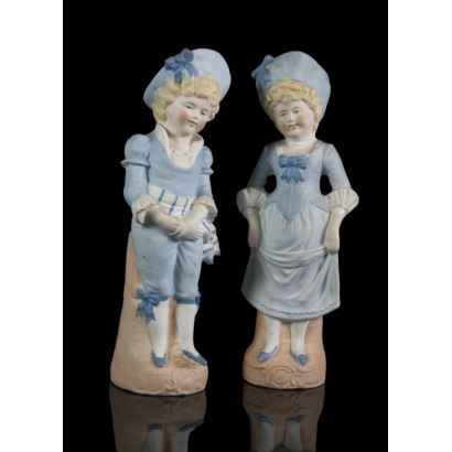 Porcelain. Pair of German figures, s. XX.