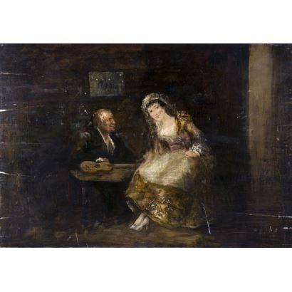 Seguidor de Eugenio Lucas Velázquez (Madrid, 1817-1870).