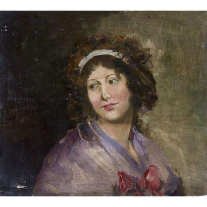 Pintura del siglo XIX. Seguidor de Eugenio Lucas Velázquez (Madrid, 1817-1870).
