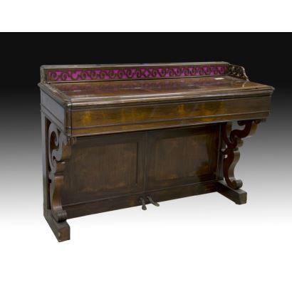 Piano consola, Jean-Henri Pape, , París, Francia, 1839