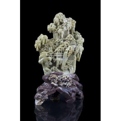 Escultura en piedra jabón, China, pps. XX.