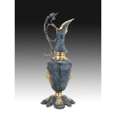 Jarra en bronce estilo renacimiento, pps. XX.