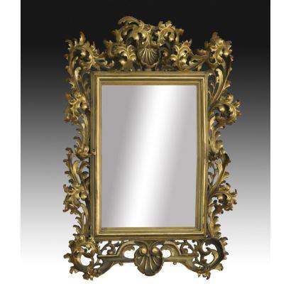 Espejo de estilo barroco, s. XlX