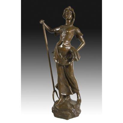 Escultura en bronce, segunda mitad del s. XX.