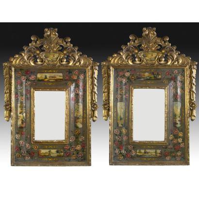 Pareja de espejos, S. XIX.