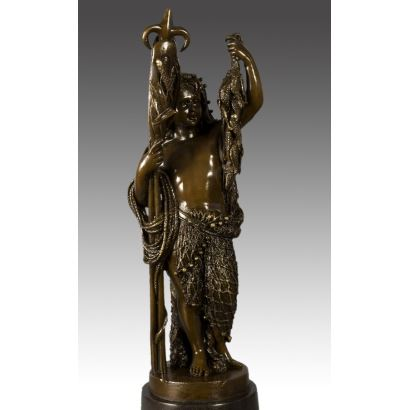 Escultura de bronce siguiendo modelos de Albert-Ernest Carrier-Belleuse