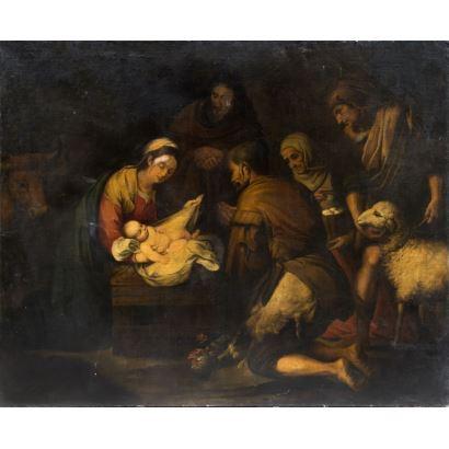 Pintura de Alta Época. Siguiendo modelos de Bartolomé Esteban Murillo, s. XVIII.