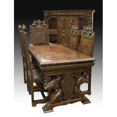 Muebles. Despacho, estilo Renacimiento Español, ppios. S. XX.