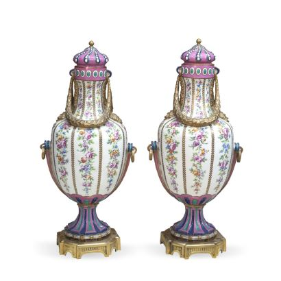 Pair of vases from Sèvres, end S. XVIII - ppios. S. XIX.
