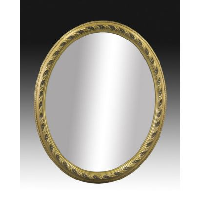 Mirrors and frames. Oval mirror style Louis XVI, S. XX.