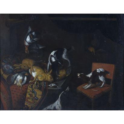 Pintura de Alta Época. Siguiendo modelos de Frans Snyders (Bélgica, 1579 - 1657)