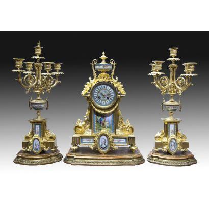 Relojes. Reloj de sobremesa francés, siglo XIX.