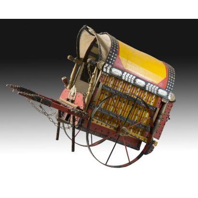 Carreta para caballo de juguete, primera mitad del siglo XX.