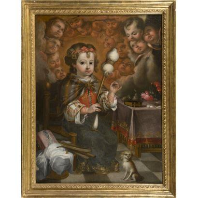 Pintura de Alta Época. JUAN SIMÓN GUTIÉRREZ (Medina Sidonia, 1634- Sevilla, 1718)