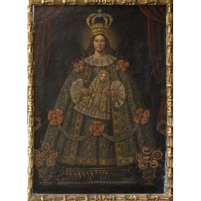 Pintura de Alta Época. Escuela cuzqueña, S. XVII.