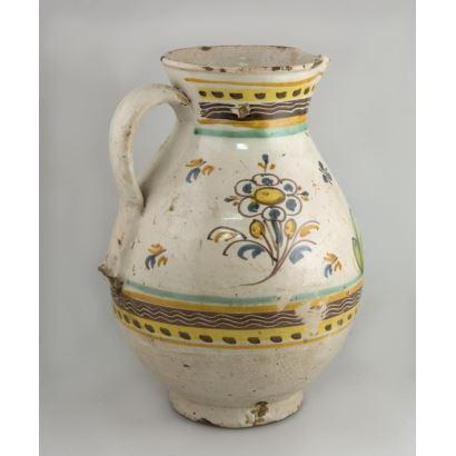 Jarro en cerámica, S. XVIII.
