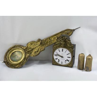 Reloj de pared Morez, Francia, siglo XIX.