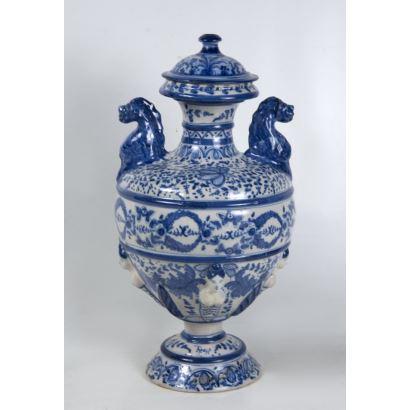 Jarrón en cerámica, Talavera.