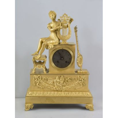 Reloj de sobremesa Imperio, s. XIX.