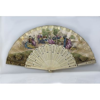 Objects. Fan, circa 1900.