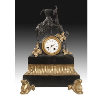 Table clock, France, S. XIX.