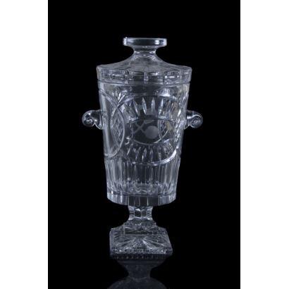 Ponchera en cristal, siglo XX.