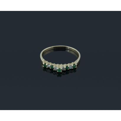 Half alliance ring