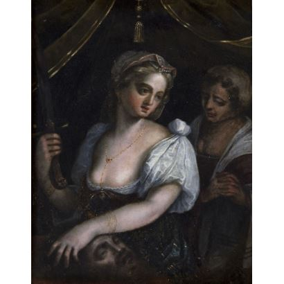 Pintura de Alta Época. Escuela Italiana, siglo XVII.