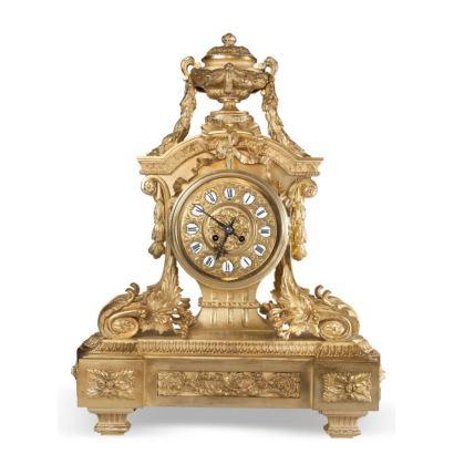 Relojes. Reloj de sobremesa, estilo Luis XVI, S. XIX.