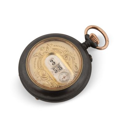 Pocket watch, early S.XX. In iron with digital marking of hours and minutes. In running state. Diameter: 5.5 cm